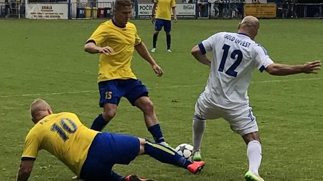 Z utkání Český Brod - Neratovice (0:0, PK 8:9).