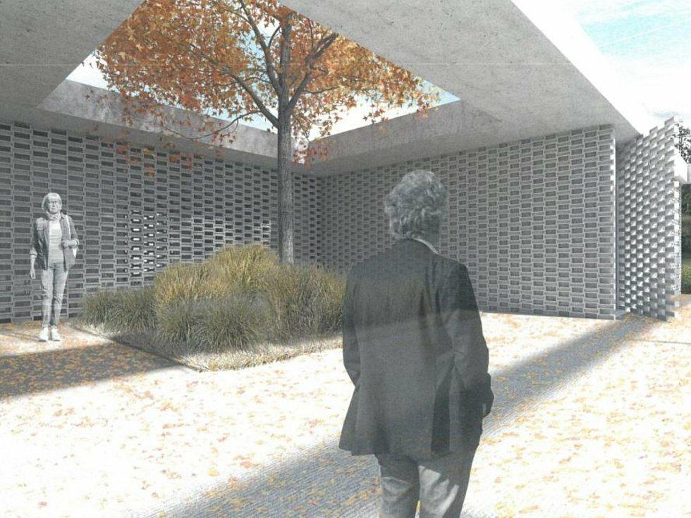Vizualizace hřbitova se smuteční síní v Doubravčicích.