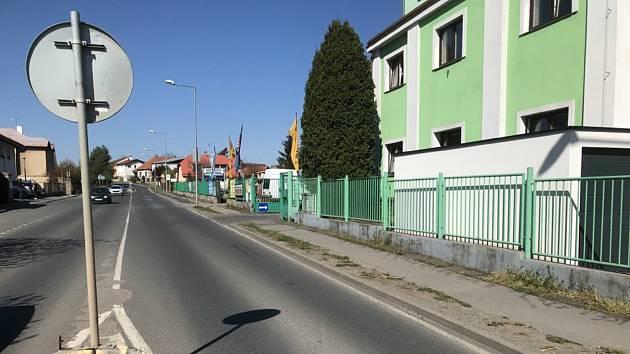 Zborovská ulice v Českém Brodě.