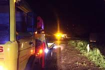 Havárie náklaďáku u odbočky na Vitice