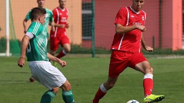 Z přátelského utkání Velim - Český Brod B (4:0).