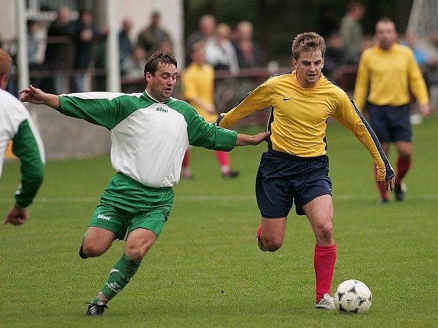 Z fotbalového utkání I.B třídy Radim - Bílé Podolí (4:0)