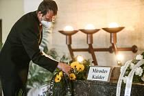 Poslední rozloučení s Miroslavem Kaislerem, bývalým starostou Kolína.