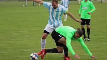 Z fotbalového utkání I.B třídy Býchory - Bílé Podolí (3:0)