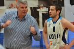 Z utkání BC Geosan Kolín - Nymburk.