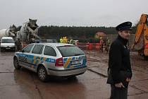Fotografie z místa nehody na štítarské části obchvatu