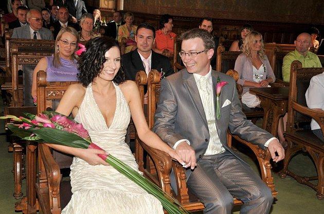 Marie Klvaňová z Kutné Hory a Petr Kukal z Kolína byli oddáni v sobotu 11. 7. 2009 v Kutné Hoře