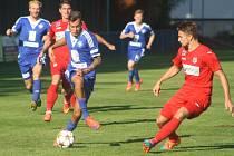 Z pohárového utkání FK Kolín - Ústí nad Labem (2:4).