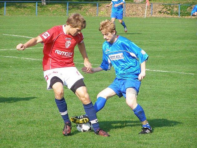 Z utkání staršího dorostu FK Kolín - Pardubice B (1:3).