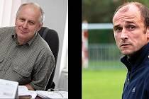 Kandidáti na předsedu Okresního fotbalového svazu Kolín: Ivo Pařík (vlevo), Michal Škopek.