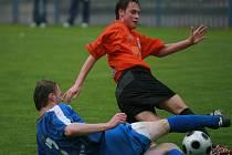 Z utkání FK Kolín - Vyšehrad (1:2).