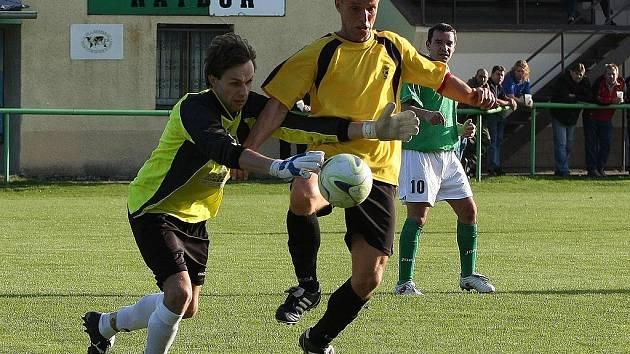 Z utkání Ratboř - Třebovle (2:0).