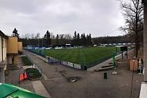 Fotbalový areál v Kolíně.
