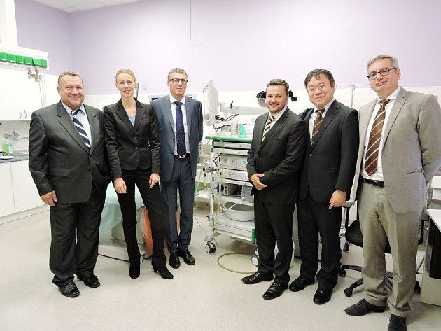 Nový koloskopický sál na endoskopickém centru Oblastní nemocnice Kolín.