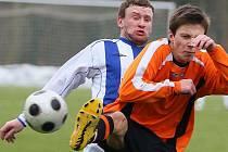 Zimní turnaj 2011 v Kolíně. 1.kolo: FC Čáslav - FK Kolín (1:1).