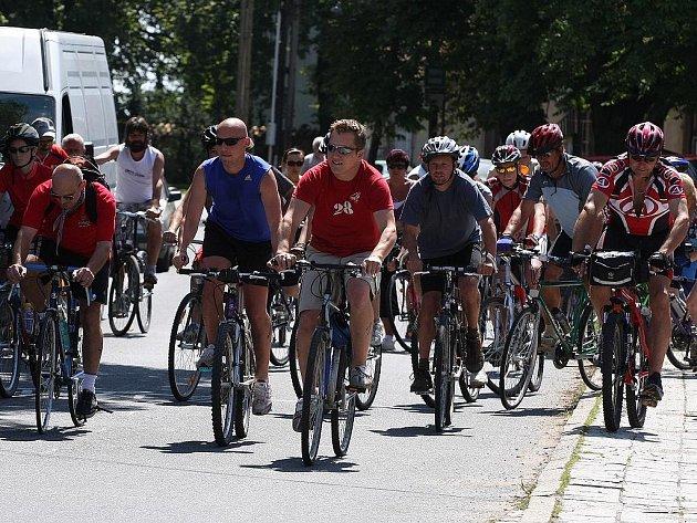Cyklistický závod Hornokrutská čtyřicítka. 1. srpna 2009