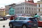 Kolínské Karlovo náměstí a ústí přilehlých ulic