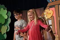 Z představení pro malé diváky - Štístko a Poupěnka v Kolíně 3. října 2021.