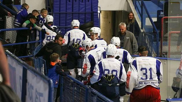 Z přípravného hokejového utkání Kolín - Jihlava (1:2)