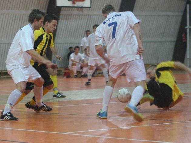 Z utkání SKP Kolín - MBV Mladá Boleslav (3:2).