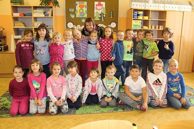 Třída 1.B 6.základní školy Kolín, třídní učitelka Eva Kubišová