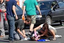 Nehoda na Jaselské v Kolíně