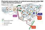 Přechodná úprava pohybu na vnitřních komunikacích areálu Oblastní nemocnice v Kolíně v době rekonstrukce pavilonu P.