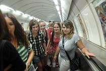 Studenti kolínské Obchodní akademie