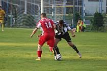 Z fotbalového utkání prvního kola MOL cupu Kolín - Karlovy Vary (1:0)
