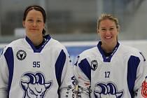 Alena Mills (vlevo) a Kateřina Mrázová trénovaly před MS v Kolíně