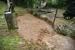 Lokální povodeň v Týnci nad Labem.