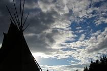 Indiánské táboření Wanagi Oyate