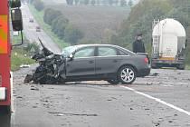 Dopravní nehoda u Vrbčan. 5. října 2010