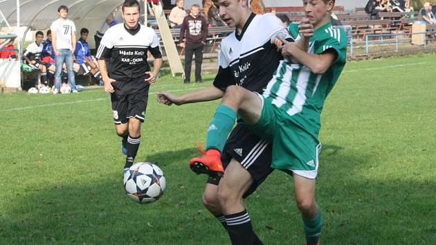 Z utkání FK Kolín U17 - Meteor Praha (2:1 PK).