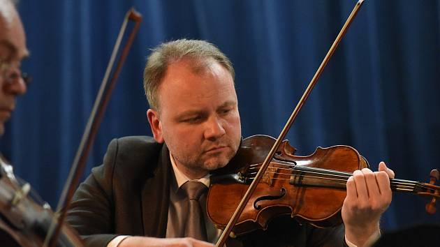 Z koncertu Janáčkova kvarteta v Městském společenském domě v Kolíně.