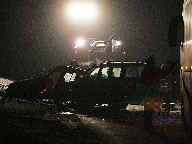 Vážná nehoda u Vrbčan. 23. ledna 2010