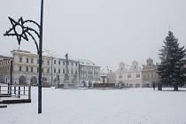 Sněhová nadílka v na konci prosince.