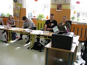 Volby do EP na Kolínsku, volební místnost v ZŠ Mnichovická Kolín