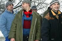 Michal Král (uprostřed) byl nejlepším střelecm Žabonos v soutěži.