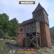 Kostel v Rovné (dnešní část Stříbrné Skalice) - pohled ze hry