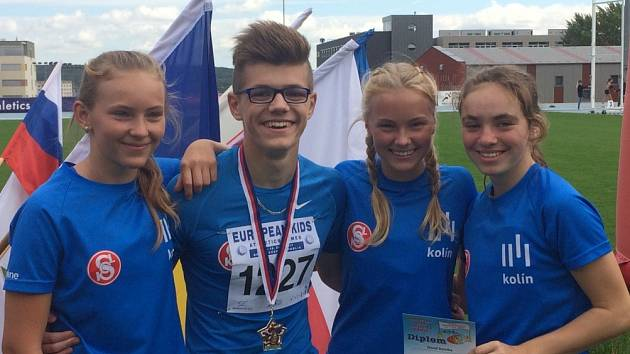 Mladí atleti Kolína získali v Brně sedm medailí.