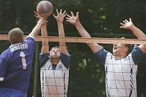Z volejbalového utkání Kolín - Týnec nad Sázavou.