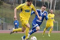 Z utkání Varnsdorf - FK Kolín (3:1).
