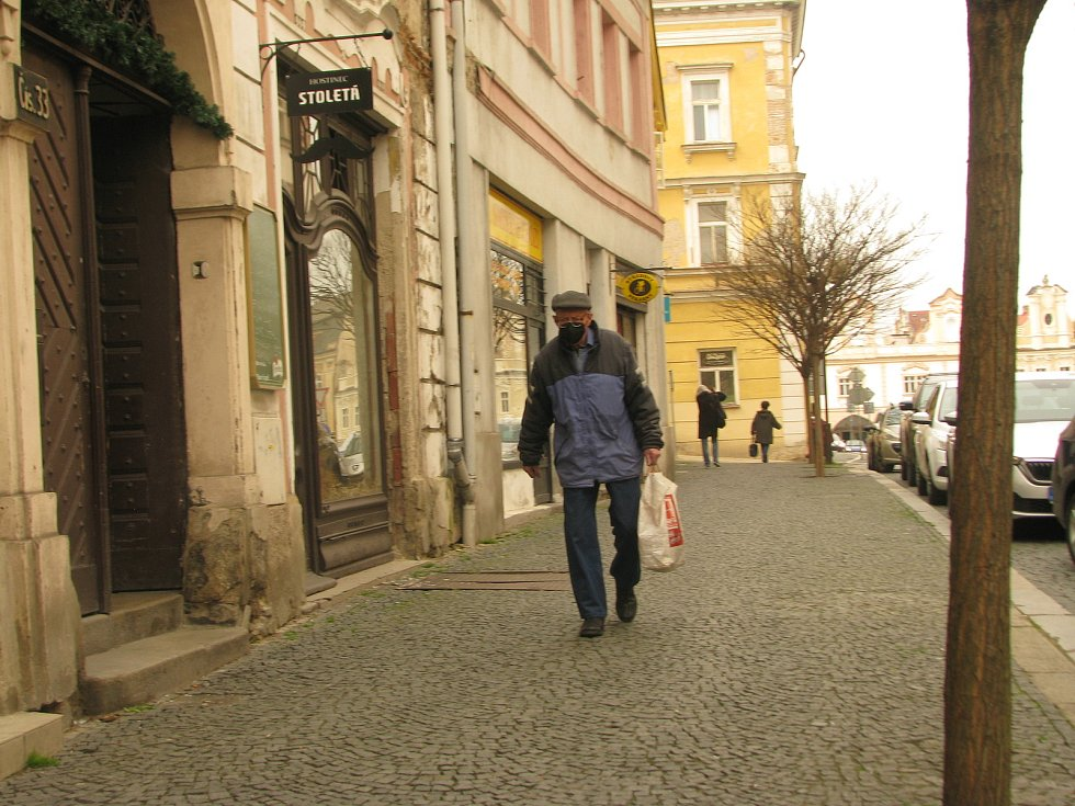 Všední den v ulicích Kolína.