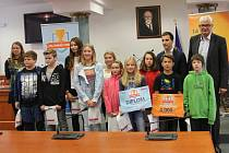 Delegace vítězných škol se setkaly na krajském úřadě