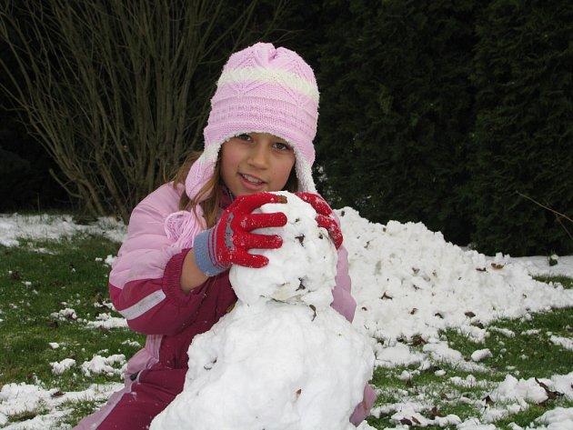 Sněhová nadílka na Kolínsku