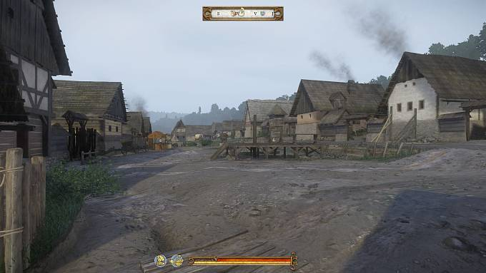 Náměstí v Sázavě - pohled ze hry