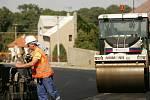 Aktuální stav rekonstrukce silnice I/2 - září 2009.