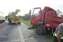 Dopravní nehoda u Přistoupimi