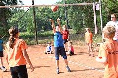Ve druhém dni se konalo klání ve volejbalu a aerobiku.